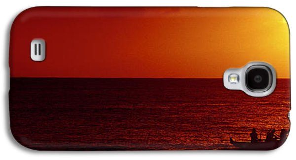 Outrigger Sunset Galaxy S4 Case by Sean Davey