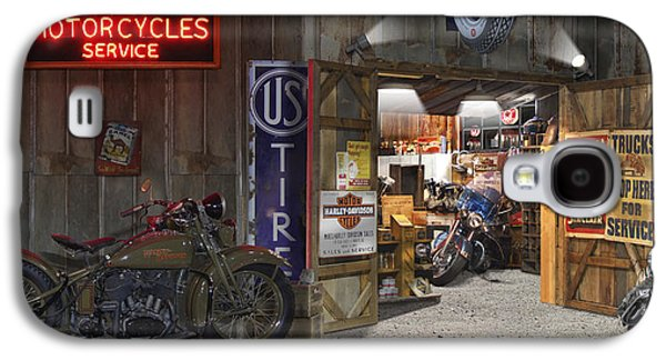 Outside The Motorcycle Shop Galaxy S4 Case by Mike McGlothlen