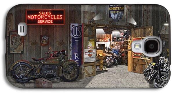 Outside The Motorcycle Shop Galaxy S4 Case