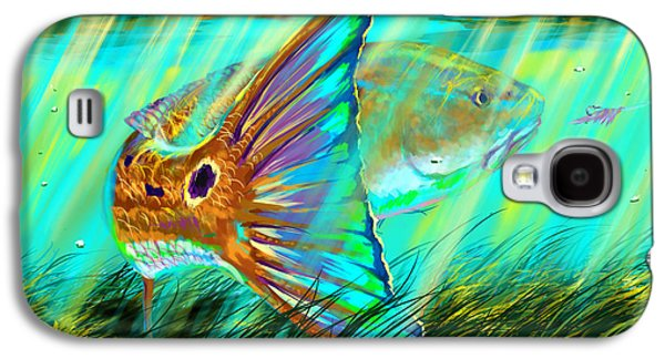 Sharks Galaxy S4 Case - Over The Grass  by Yusniel Santos