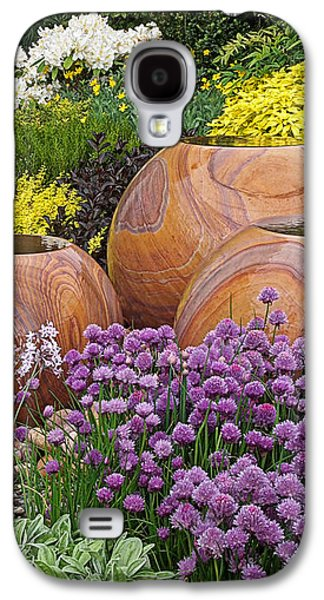 Overflowing Joy In The Flower Graden Galaxy S4 Case by Gill Billington