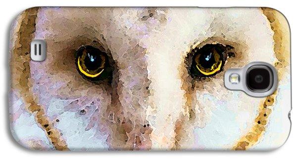 Owl Art - Soft Love Galaxy S4 Case by Sharon Cummings
