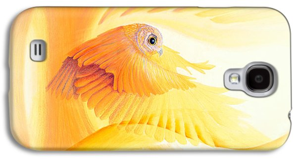 Owl In Tunnel Galaxy S4 Case by Robin Aisha Landsong