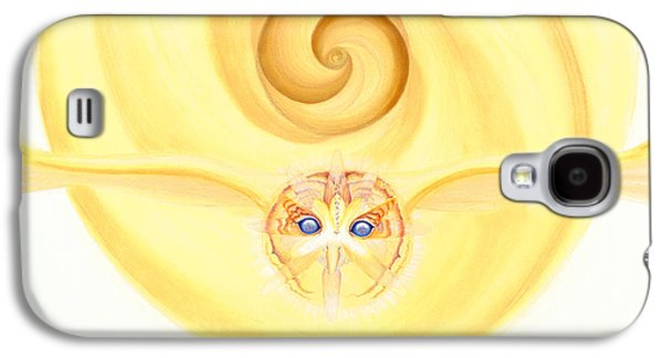 Owl Looking Into The Divine Galaxy S4 Case by Robin Aisha Landsong