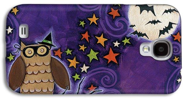 Owl With Mask Galaxy S4 Case by Anne Tavoletti