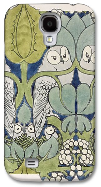 Owls, 1913 Galaxy S4 Case by Charles Francis Annesley Voysey