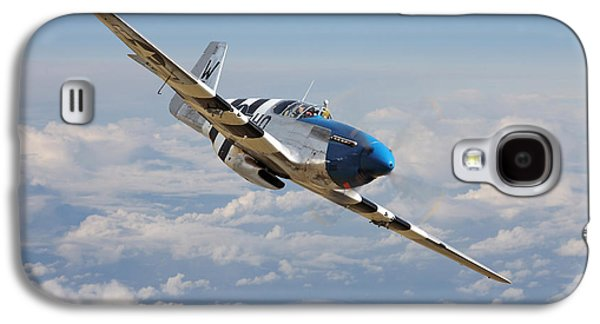 P51 Mustang - Symphony In Blue Galaxy S4 Case