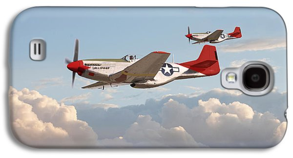 P51 Mustangs - Red Tails Galaxy S4 Case
