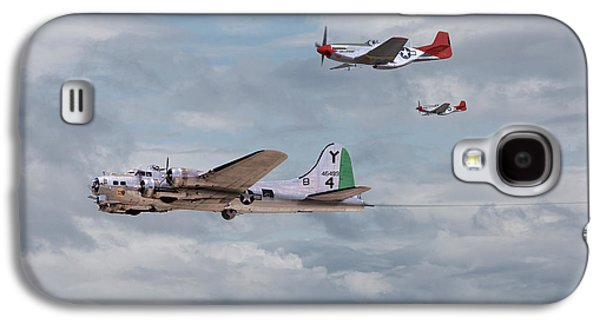 P51 Red Tails - Bringing Them Home Galaxy S4 Case