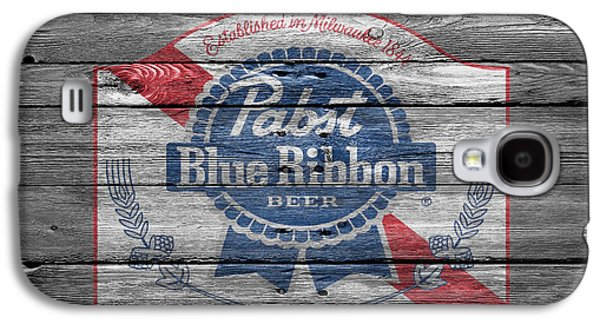 Pabst Blue Ribbon Beer Galaxy S4 Case by Joe Hamilton