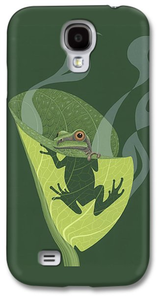 Pacific Tree Frog In Skunk Cabbage Galaxy S4 Case by Nathan Marcy