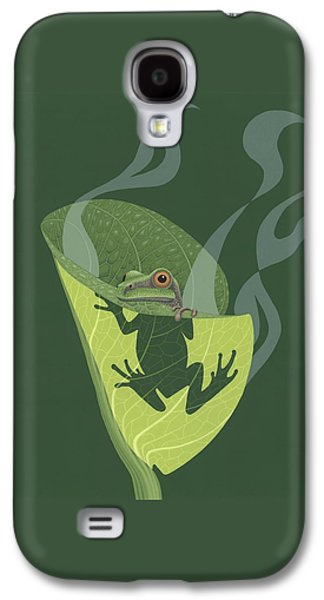 Pacific Tree Frog In Skunk Cabbage Galaxy S4 Case