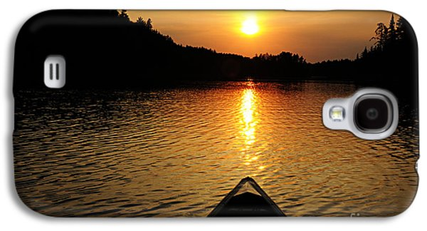 Paddling Off Into The Sunset Galaxy S4 Case by Larry Ricker