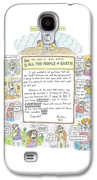 'paid Advertisement' Galaxy S4 Case by Roz Chast