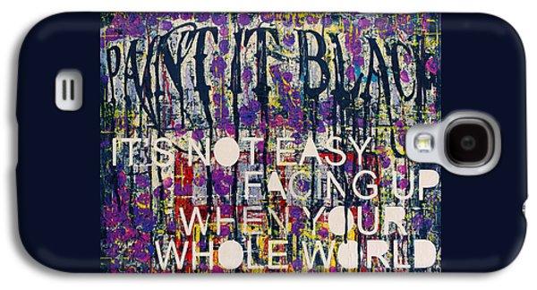 Paint It Black Galaxy S4 Case by Frank Van Meurs
