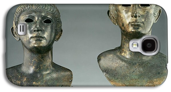 Pair Of Portrait Busts Of Youths And Two Marble Eyes Galaxy S4 Case by Litz Collection