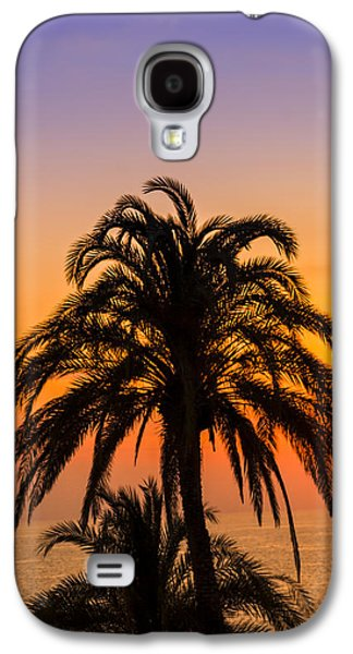 Palm Tree Sunset Vertical Galaxy S4 Case