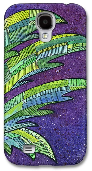 Palms Against The Night Sky Galaxy S4 Case by Diane Thornton