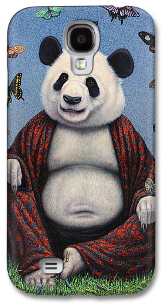 Panda Buddha Galaxy S4 Case by James W Johnson