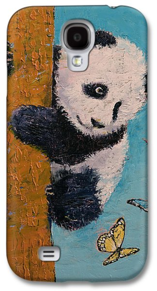 Panda Butterflies Galaxy S4 Case by Michael Creese