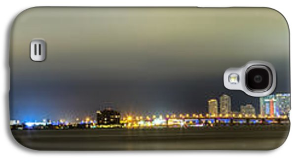 Panorama Of Biscayne Bay In Miami Florida Galaxy S4 Case by Andres Leon