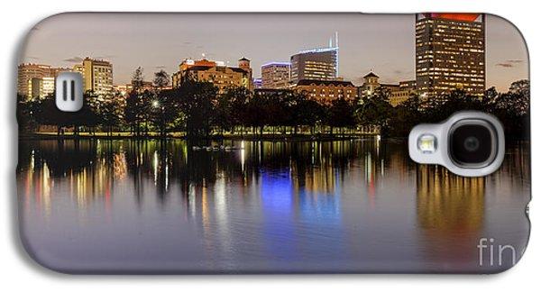 Panorama Of Mcgovern Lake And Texas Medical Center At Twilight- Hermann Park Houston Texas Galaxy S4 Case by Silvio Ligutti