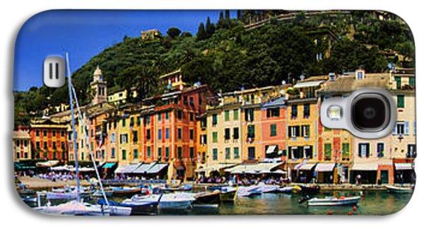 Panorama Of Portofino Harbour Italian Riviera Galaxy S4 Case by David Smith