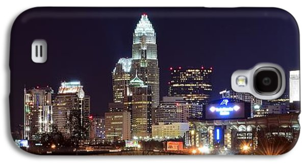 Panoramic Charlotte Night Galaxy S4 Case by Frozen in Time Fine Art Photography