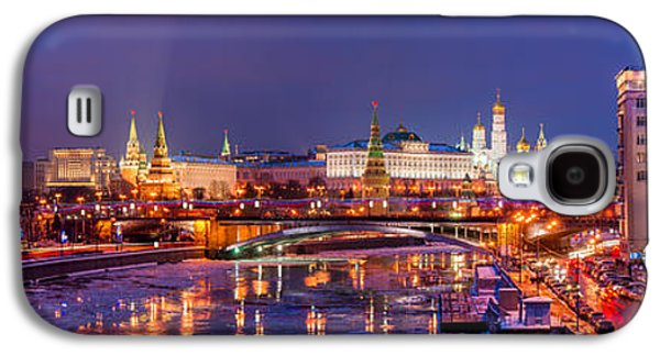 Moscow Galaxy S4 Case - Panoramic View Of Moscow River And Moscow Kremlin  - Featured 3 by Alexander Senin