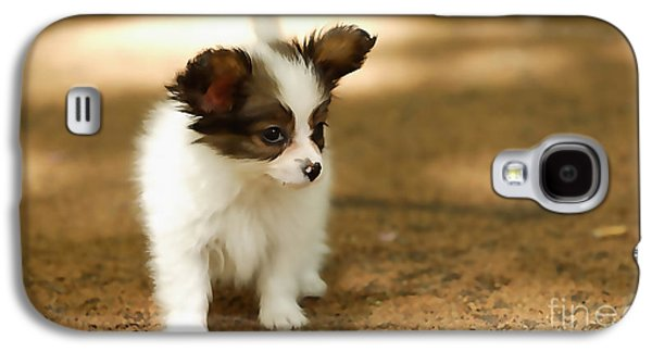 Papillon Puppy  Galaxy S4 Case by Marvin Blaine