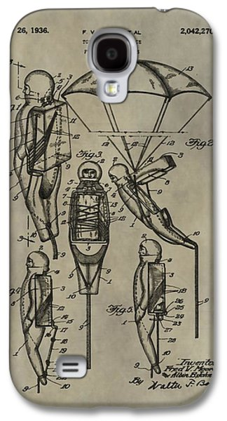 Parachute Toy Patent Galaxy S4 Case by Dan Sproul