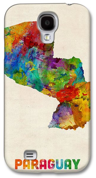 Paraguay Watercolor Map Galaxy S4 Case by Michael Tompsett