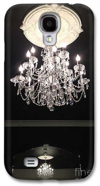 Paris Crystal Chandelier - Paris Black And White Chandelier - Sparkling Elegant Chandelier Opulence  Galaxy S4 Case by Kathy Fornal