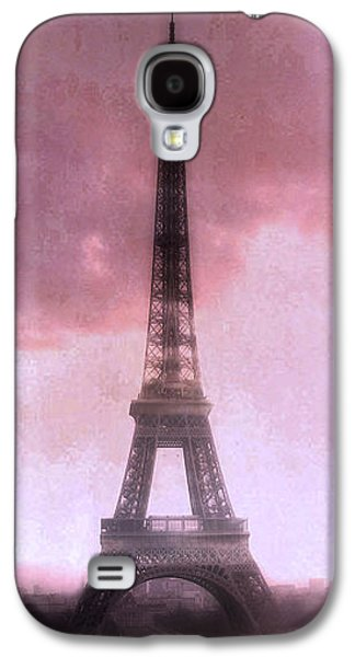 Paris Dreamy Pink Eiffel Tower Abstract Art - Romantic Eiffel Tower With Pink Clouds Galaxy S4 Case