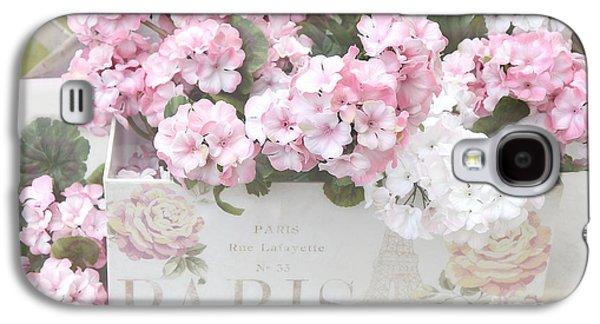 Paris Dreamy Romantic Cottage Chic Shabby Chic Paris Flower Box Galaxy S4 Case