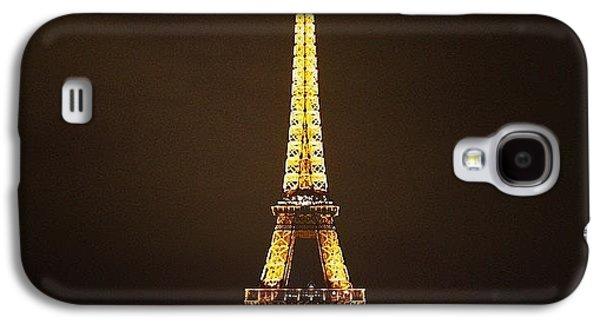 #paris #france #night #lights Galaxy S4 Case by Luisa Azzolini