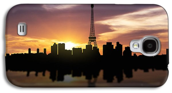 Paris France Sunset Skyline  Galaxy S4 Case