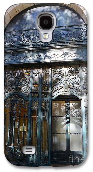 Paris Guerlain Storefront Boutique - Paris Guerlain Blue Door Art Nouveau Art Deco Door Galaxy S4 Case by Kathy Fornal