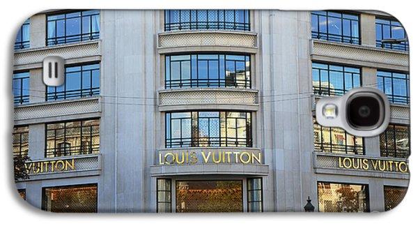 Paris Louis Vuitton Fashion Boutique - Louis Vuitton Designer Storefront In Paris Galaxy S4 Case by Kathy Fornal