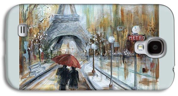 Paris Lovers I Galaxy S4 Case by Marilyn Dunlap