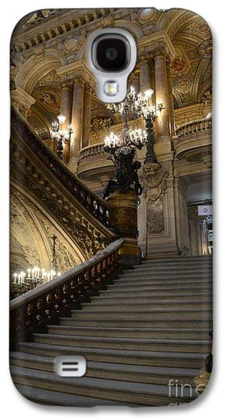 Paris Opera Garnier Grand Staircase - Paris Opera House Architecture Grand Staircase Fine Art Galaxy S4 Case by Kathy Fornal