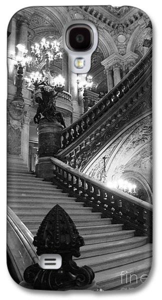 Paris Opera House Grand Staircase Black And White Art Nouveau - Paris Opera Des Garnier Staircase Galaxy S4 Case by Kathy Fornal