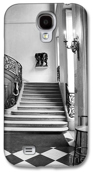 Paris Rodin Museum Black And White Fine Art Architecture - Rodin Museum Entry Staircase Galaxy S4 Case by Kathy Fornal
