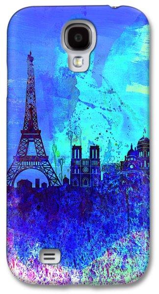 Paris Watercolor Skyline Galaxy S4 Case by Naxart Studio