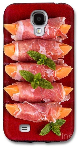 Parma Ham And Melon Galaxy S4 Case by Jane Rix