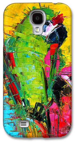Parrot Galaxy S4 Case - Parrot Lovers by Mona Edulesco
