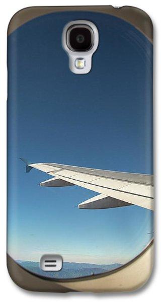 Passenger Airplane In Flight Galaxy S4 Case