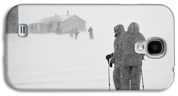 Passengers From Expedition Ship On Shore Excursion To Whaler's Bay Antarctica Galaxy S4 Case by Joe Fox