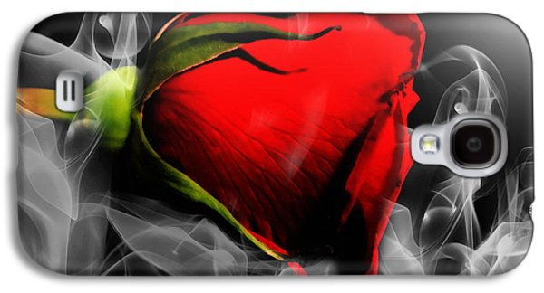 Passionate Red Hot Smoky Rose Galaxy S4 Case by Georgiana Romanovna