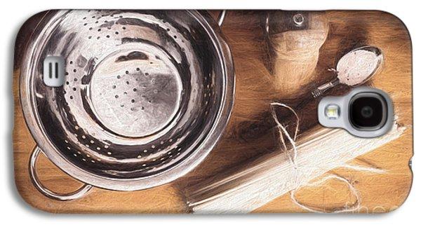 Pasta Preparation. Vintage Photo Sketch Galaxy S4 Case
